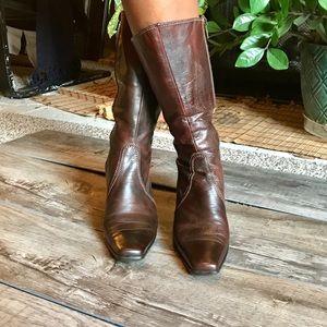 Sesto Meucci mid calf leather boots